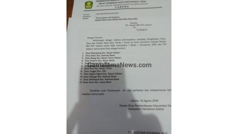Tak Lampirkan Lpj Bank Bri Blokir 12 Rekening Kades